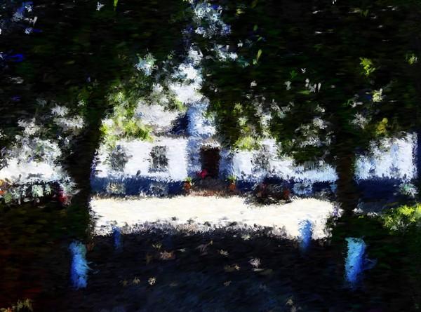 Lerbaek Manor House Impressionist Painting