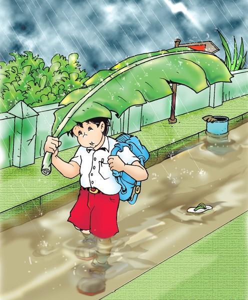 Flood after School