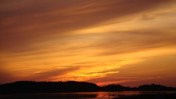 one warm sunset