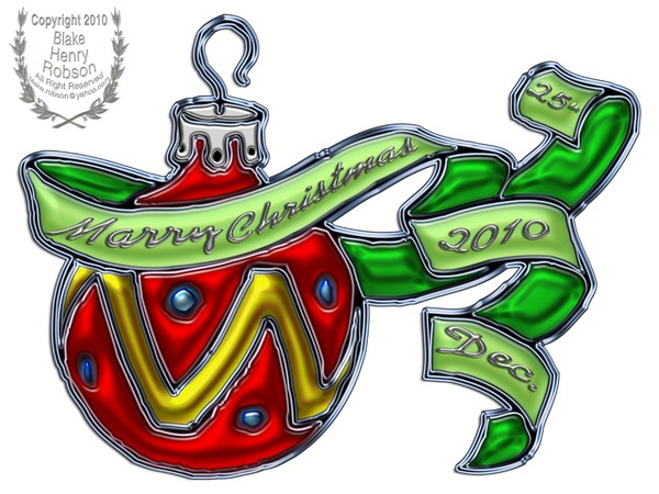 Christmas Ornament & Ribbon