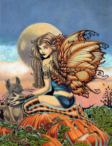 Pumpkin Faerie and Clouds III