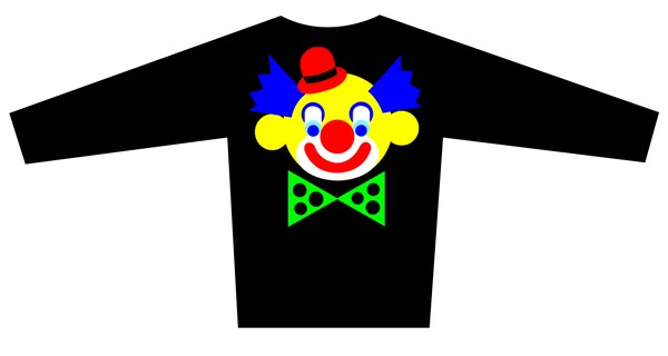Blouse Design with the Clown motif Brand is LONVIG ART