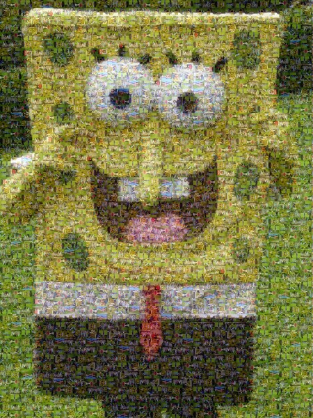 A Mosaic I did for Tyler's Sponge Bob B-Day