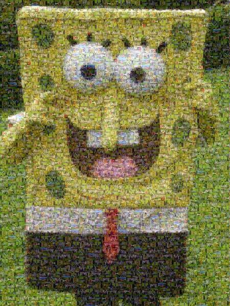 A Mosaic I did for Tyler's Sponge Bob B-Day