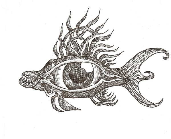 Eye Fish with Teeth