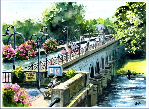 """The """"Pont Canal"""" of  Digoin (France)"""