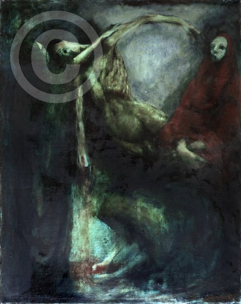 Die Kreuzabnahme 75x95 oil on canvas