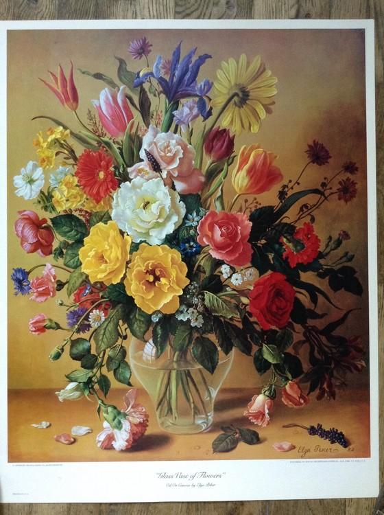 Glass Vase of Flowers