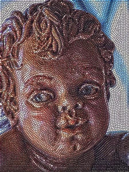 Up close; mosaic