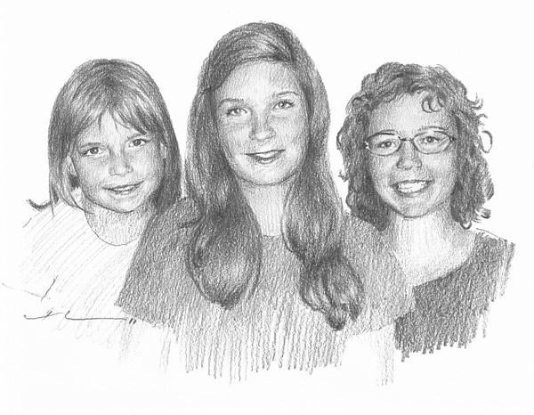 sister pencil drawing