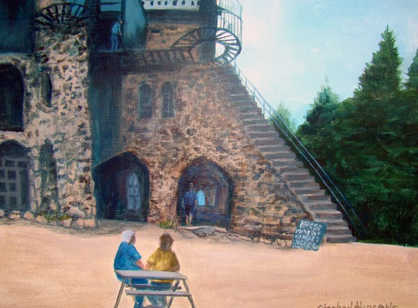 Original painting of Bishop's Castle. I found a co