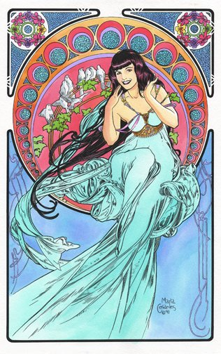 Betty Page:Mucha style