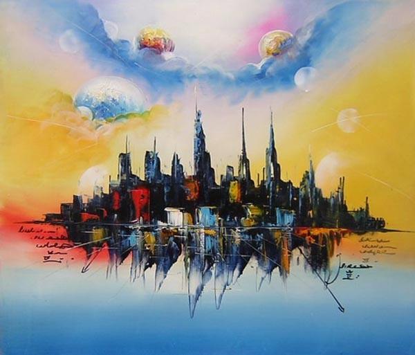Abstract 2 x 4 Art Print