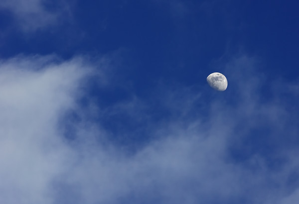 Day Moon with Clouds