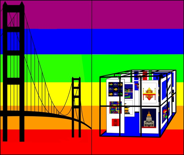 Cube in San Francisco symbolized by Golden Gay