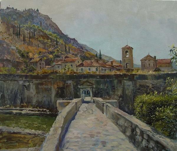 Old  Kotor town gates. Montenegro.