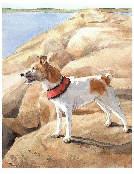 terrier watercolor painting