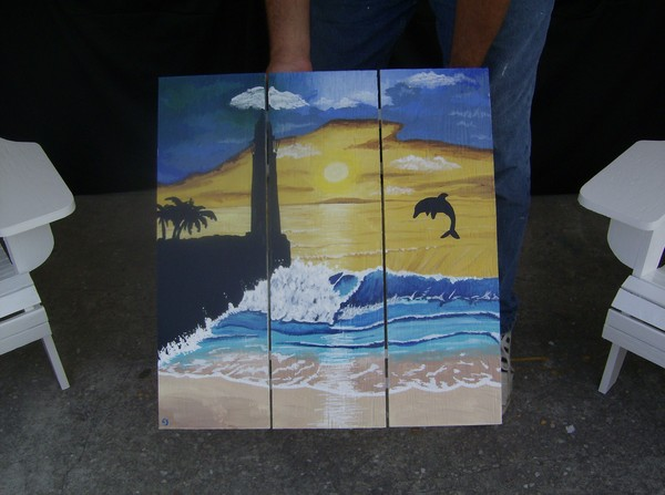 lighthouse silhouette table