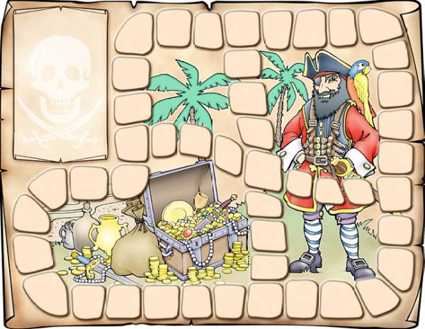 Kid's Menu design: Pirates