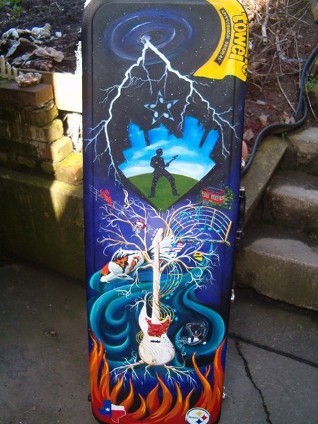Custom Painted Guitar Case