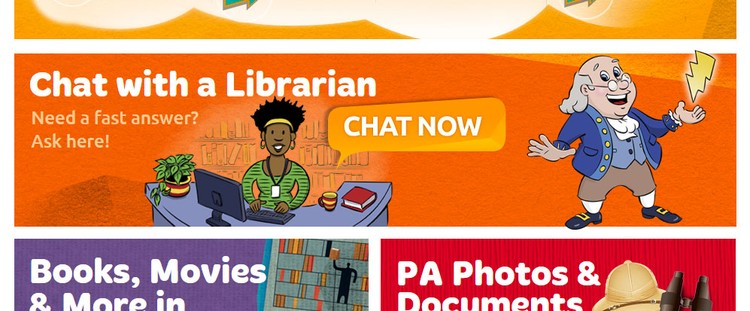 Librarian and Ben Franklin | Client: Power Kids