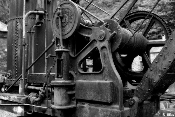 VINTAGE STEAM CRANE (DETAIL)