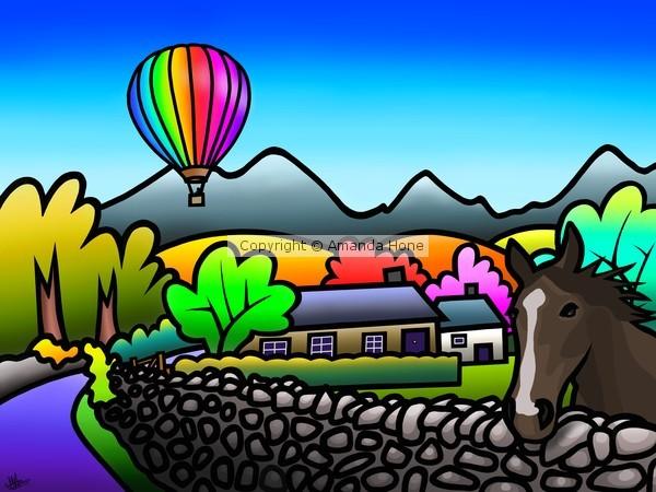 Balloon Above Talybont