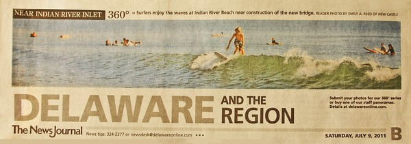 12TH News Journal Photo - Indian River Surfers
