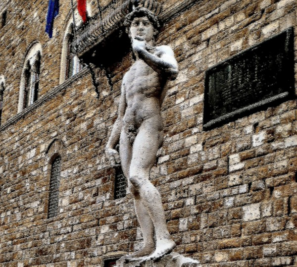 David di Michelangelo Palazzo Vecchio Florence Painting