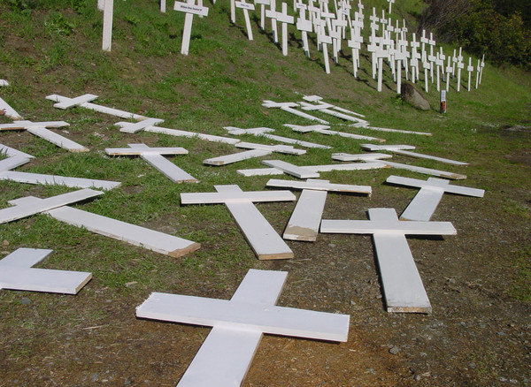 Crosses Drying in the Sun