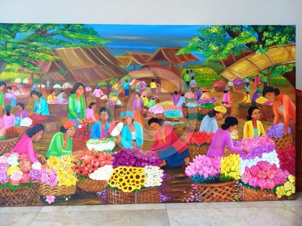Indonesian Traditional Flower Market