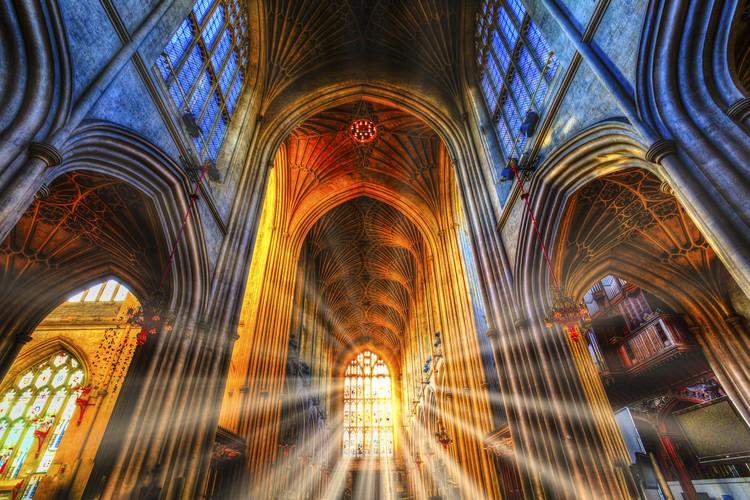 Bath Abbey Sun Rays