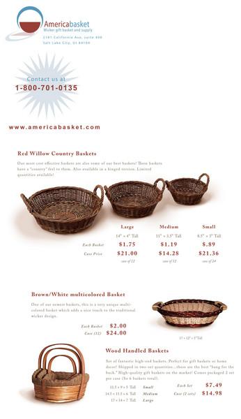 Gift basket trifold design