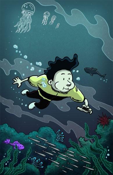 Kid Hercules Underwater