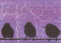 Light Show at Purple Dawn - ACEO