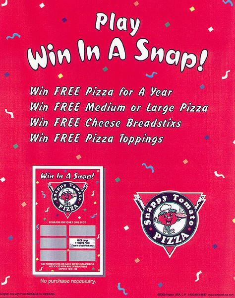 Snappy Tomato Pizza ad
