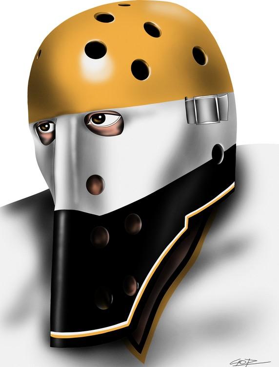 Pittsburgh Penguins Goalie Mask Michel Dion