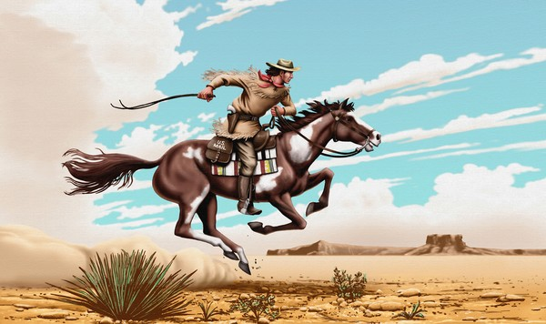 Pony Express Rider - Phone Case Art