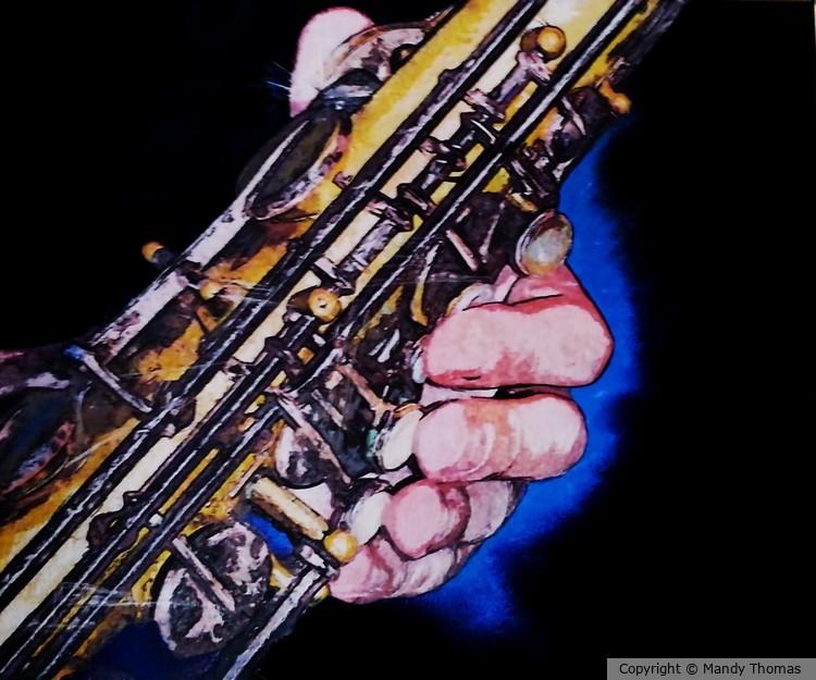 Jazz Hand Sax Man