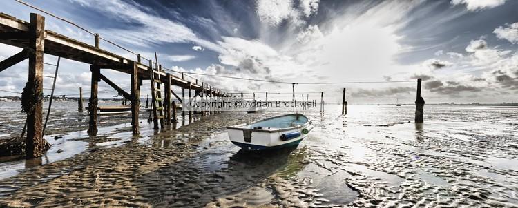 Stranded Boat at Low tide