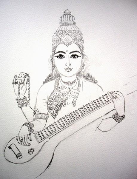 Sketch Saraswathi