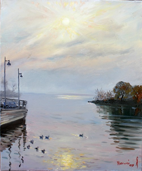 Sunrise on Lake Shore