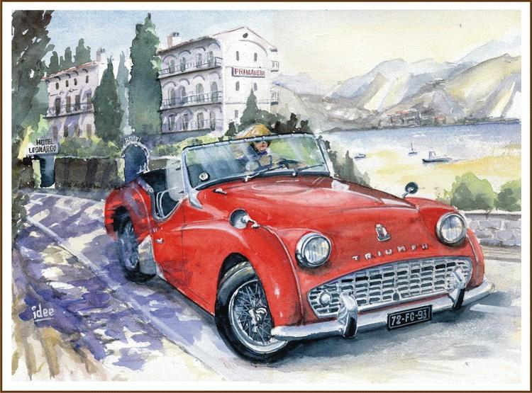 The girl in the sportscar 1961 ...