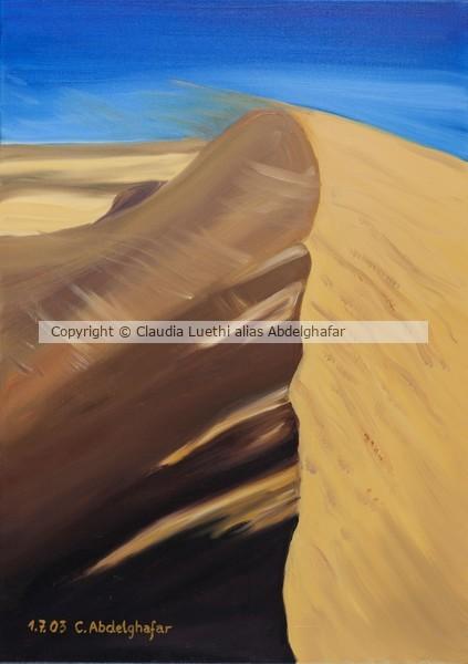 Dune of sand