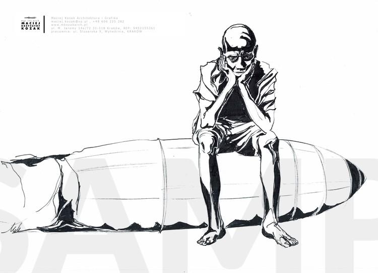 Portfolio Item - sketch ink over left over Maciej Kozak