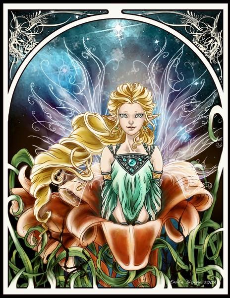 Art Nouveau: Good Night Fairy