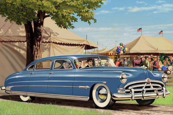 1951 Hudson Hornet Automobile Digital painting Art