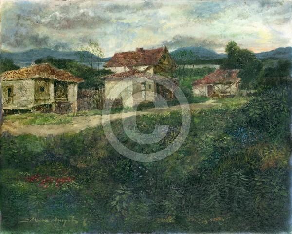 Alte Dorf 50x40 oil on canvas