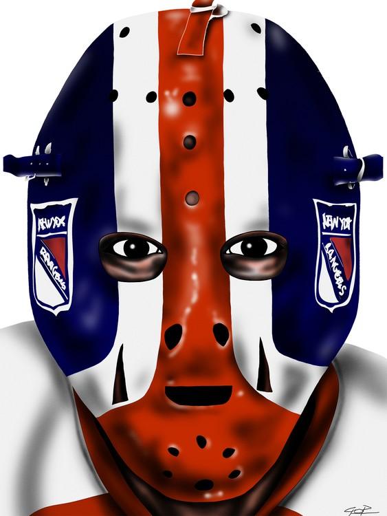 New York Rangers Goalie Mask John Davidson