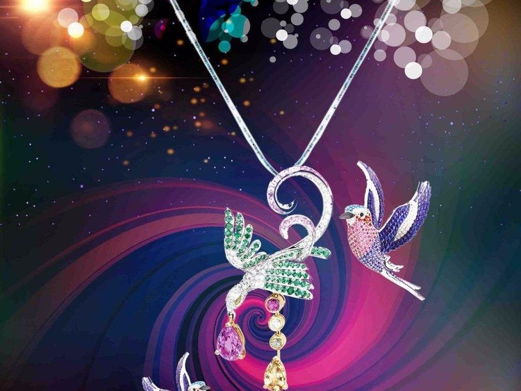 Colorful Jewelry Birds